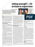 Are you getting enough (4) From supervisee to supervisor