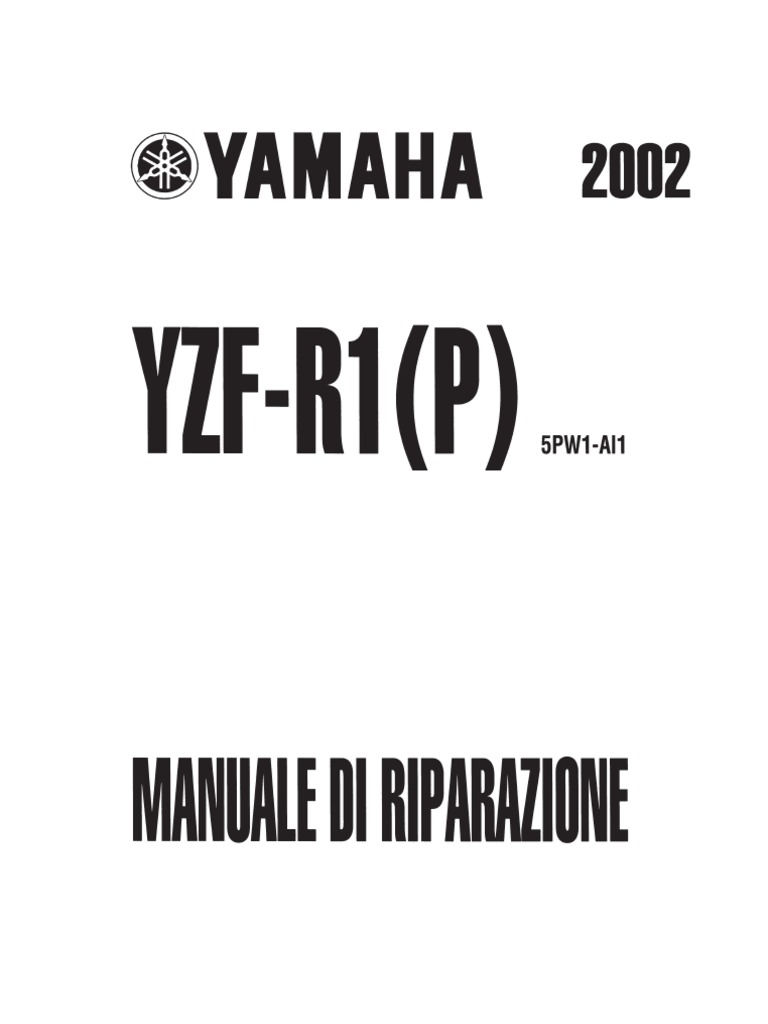 Yamaha YZF-R1 2002-2003 Manuale d'Officina (ITA