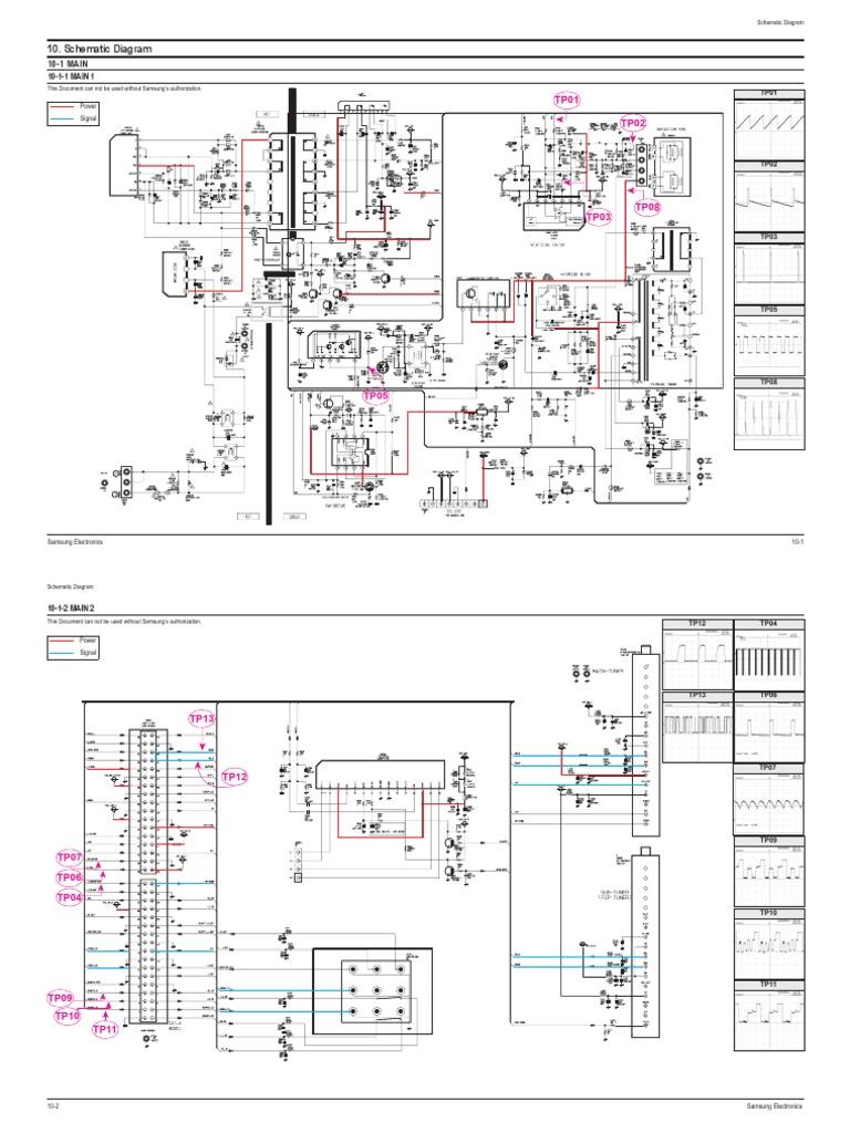 samsung tv - schematic diagram   telecommunications engineering    electronics  scribd