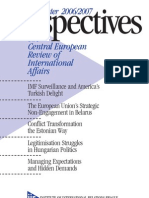The Central European Review of International Affairs