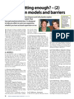 Are you getting enough? (2) Supervision models and barriers