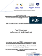 Plan Educational de Interventie Individualizata