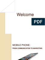 Mobile Phone - From Communication to Marketing