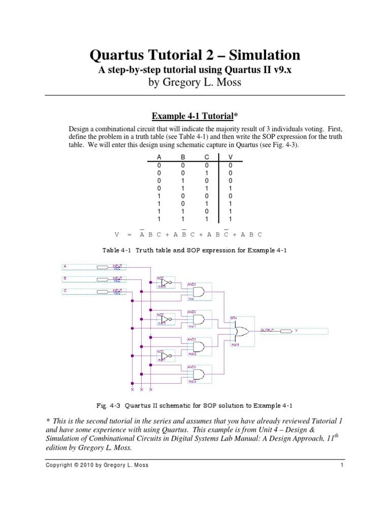quartus tutorial 2 simulation point and click computer file rh es scribd com
