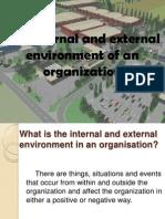 The Internal and External Environment of an Organization