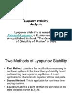Lyapunov Stability