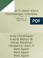 Pengaruh TI dalam bisnis Penerbangan Indonesia