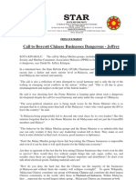 Call to Boycott Chinese Businesses Dangerous - Jeffrey-21May2013