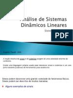 Analise de Sistemas Dinamicos Lineares