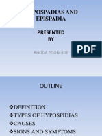 Hypospadias and Epispadia