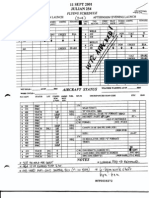 DH B4 Andrews AFB Logs-Timelines Fdr- Sep 11 2001 Julian 254 Flying Schedule 099