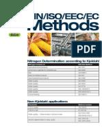 Kjeldahl DIN ISO Methods