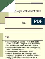 Tehnologii Web CSS
