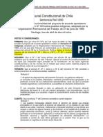 Chile Convenio 169. Sentencia Tribunal Constitucional Rol1050, 2008