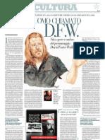 Vita, Opere e Ombre Del Personaggio David Foster Wallace - La Repubblica 21.05.2013