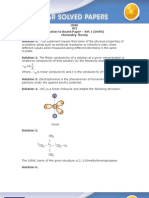 CBSE XII Chemistry 2011 Solution
