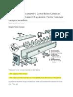 Screw Conveyor Design
