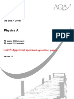 Physics u2 Qp Specimen
