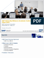 SAP University Alliances Academic Conference China 2010 - Global Bike Inc (GBI) 2.0.0 Updates