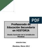 Profesorado en Historia - Mza 2012