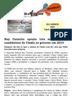 Ruy Carneiro aponta três motivos para candidatura de Cássio ao governo em 2014