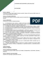 Ley 369 Ley General de Las Personas Adultas Mayores