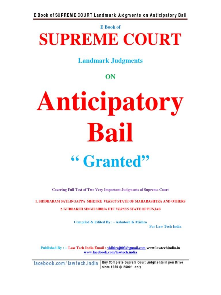 anticipatory bail