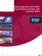 Global Mobile Usage Plans 2013-2018 MNO Pricing Strategies for Voice, Text and Data Tariffs Cover