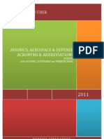 259 - AVIONICS, AEROSPACE AND DEFENSE ACRONYMS AND ABBREVIATIONS; Januar 2011
