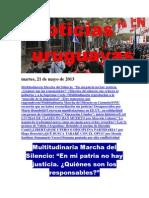 Noticias Uruguayas Martes 21 de Mayo Del 2013