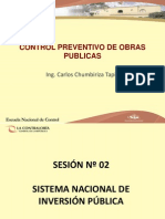 CONTROL PREVENTIVO DE OBRAS PUBLICAS - SESIÓN Nº 02