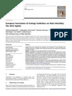 European Association of Urology Guidelines on Male Infertility- The 2012 Update