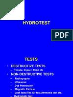Hydrotest Preparation