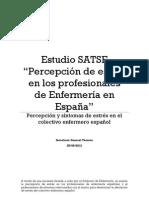 """Estudio SATSE """"Percepción de estrés en los profesionales de Enfermería en España"""""""
