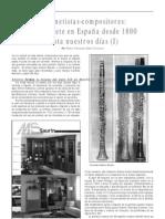 El clarinete en España desde 1800 hasta nuestros días.