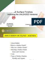 PCB Surface Finishes Presentation by Multek