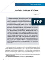 Best Execution Policy for Korean ATS