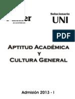 Solucionario Cultural General-Aptitud Academica 0