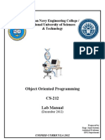 OOP Lab Manual