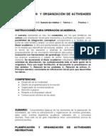 Planificacion y Organizacion de Actividades Recreativas