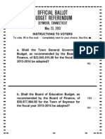 Seymour Referendum Ballot May 23