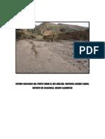 estudio geologico del puente sobre rio quillich, región la libertad