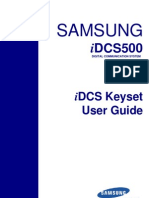 Samsung iDCS Keyset User Guide