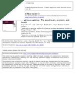Social Neuroscience the Social Brainoxytocin and Health