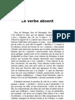 Le Verbe Absent - Jean Borreil