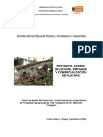 Acopio, Seleccion, Empaque y Comercializacion de Platano
