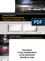 Inspiring Thoughts of Swami Vivekananda on Education and Society - Part 1