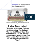 Military Resistance 11E12; a View From Kabul