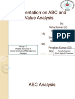 ABC and Value Analysis