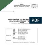 Bioseguridad en Laboratorios de Ensayos Biomedicos y Clinico